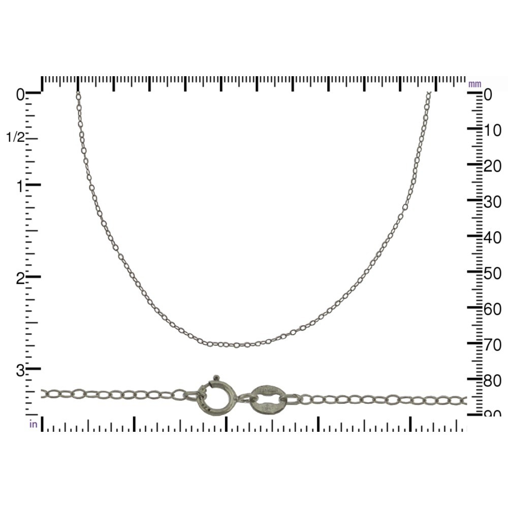 Sterling Silver 18 Inch Chain - Delicate Cable Chain