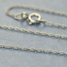 Sterling Silver 18 Inch Chain - Rope Chain