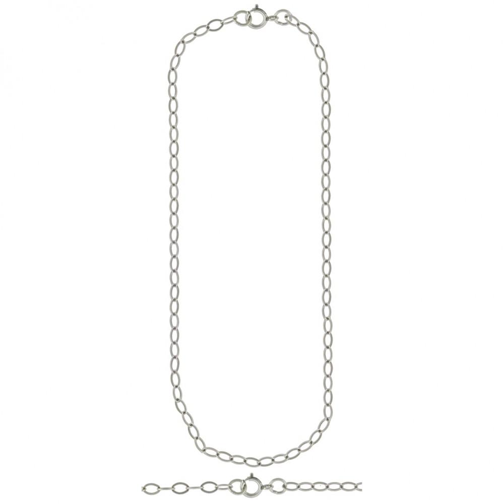 Sterling Silver 16 Inch Chain - Medium Cable Chain