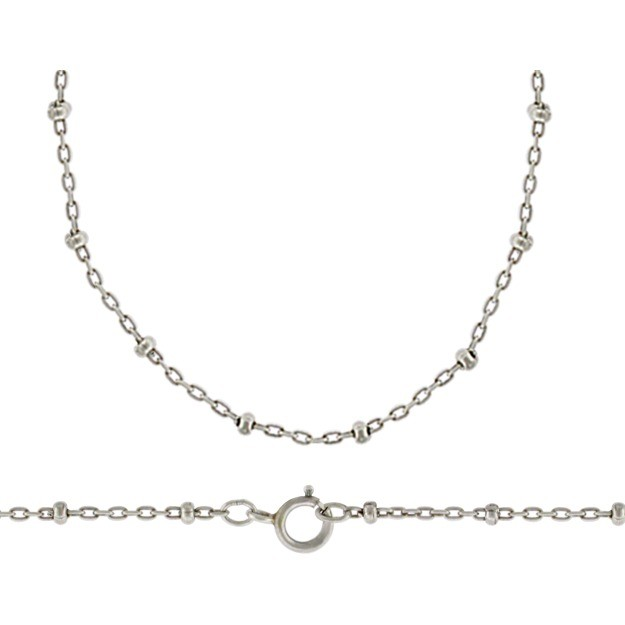 Sterling Silver 18 Inch Chain - Station Chain