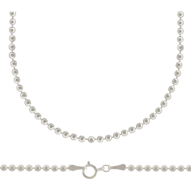 Sterling Silver 18 Inch Chain -Small Ball Chain
