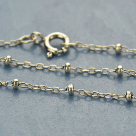 Sterling Silver 24 Inch Chain - Station Chain