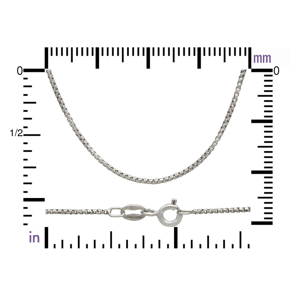 Sterling Silver 18 Inch Chain - Box Chain