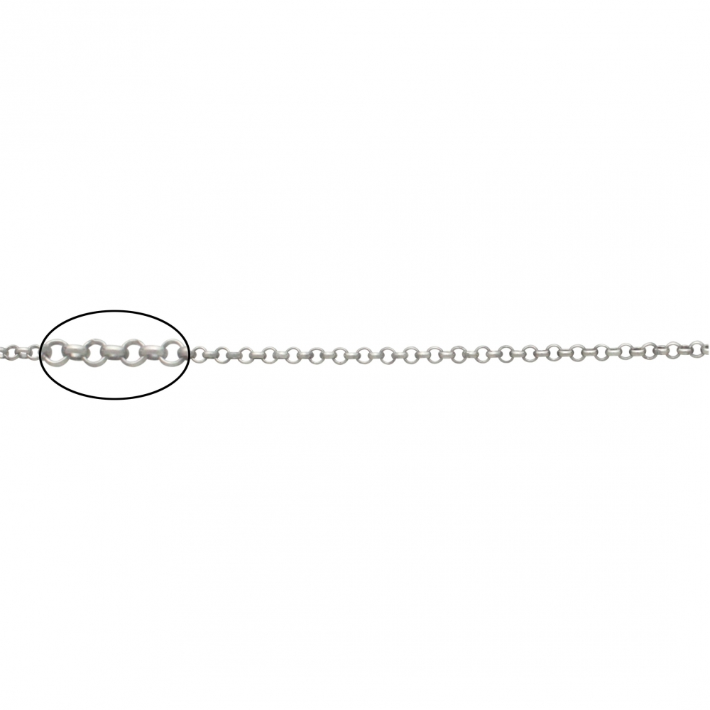 Sterling Silver Chain by the Foot - Rolo Chain