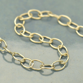 Sterling Silver Chain by the Foot - Oval Cable Chain