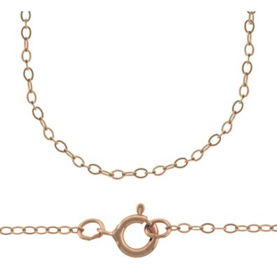 Rose Gold Filled Chain - 16 Inch Delicate Cable Chain