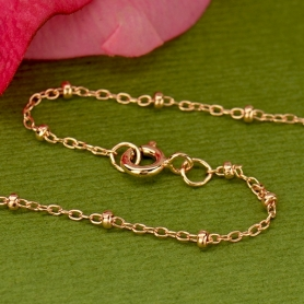 Rose Gold Filled Chain - 16 Inch Station Chain DISCONTINUED