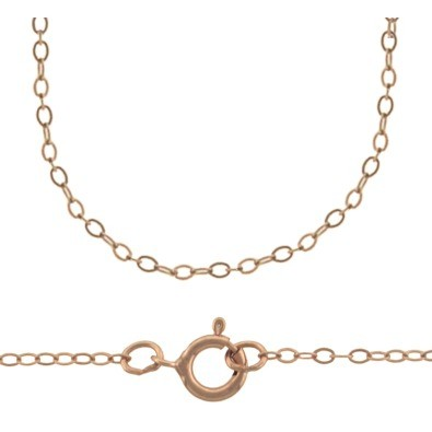 Rose Gold Filled Chain - 18 Inch Delicate Cable Chain