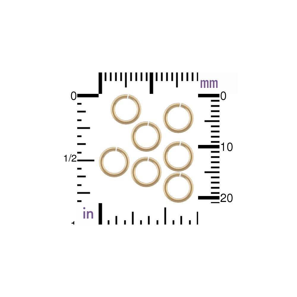 14K Gold Fill Jump Ring - 6 mm Open