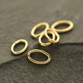 14K Gold Fill Jump Ring - 5mm Oval