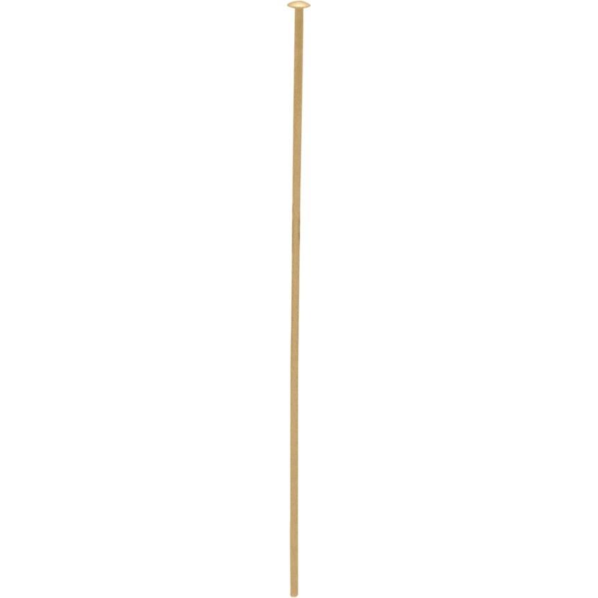 14K Gold Fill  Head Pin - 24 Gauge