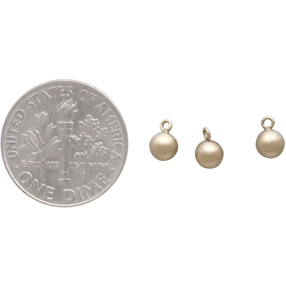 Gold Filled Hollow Round Ball Charm Dangle 4mm