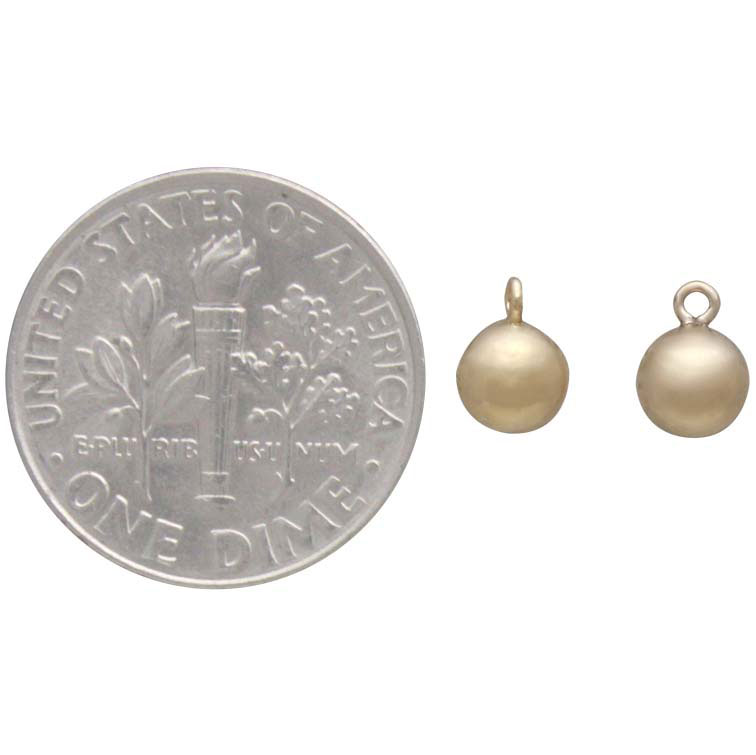 Gold Filled Hollow Round Ball Charm Dangle 5mm