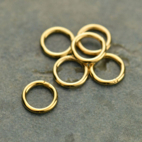 14K Gold Fill Jump Ring - 7 mm Soldered