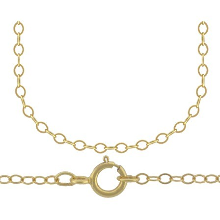 14K Gold Filled Chain - 18 Inch Delicate Cable Chain