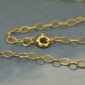 14K Gold Filled Chain - 16 Inch Cable Chain DISCONTINUED