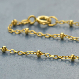 14K Gold Filled Chain - 18 Inch Station Chain DISCONTINUED