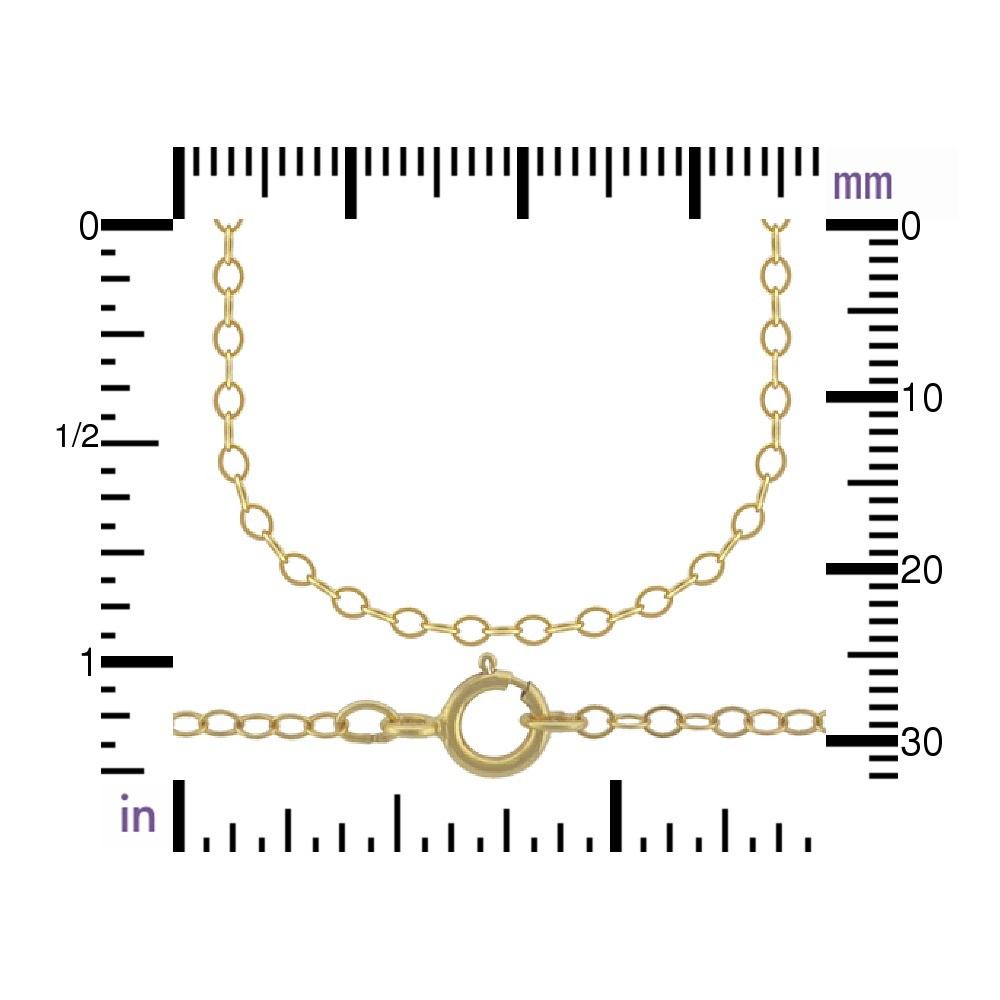 14K Gold Filled Chain - 24 Inch Delicate Cable Chain