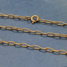 14K Gold Filled Oval Cable Chain 24 Inch