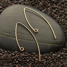 14K Gold Filled Ear Wire - V Shape 33x15mm