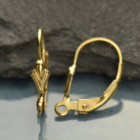 14K Gold-filled Lever Back with Fleur De Lis