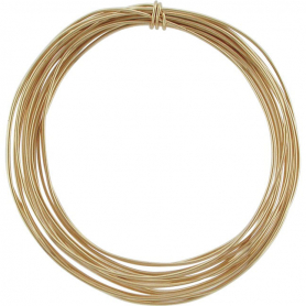 14K Gold Filled Dead Soft Wire - .5oz 22 Gauge 17ft