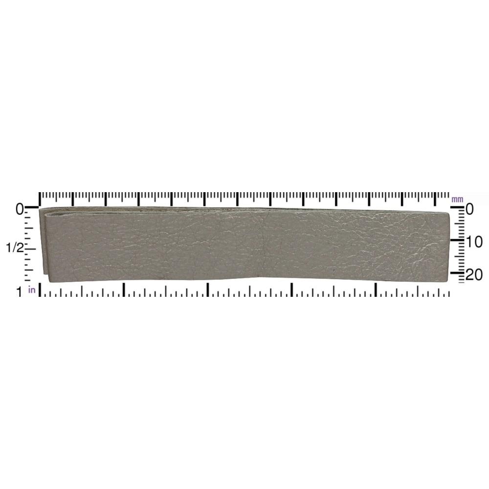 Leather Cord - Metallic Platinum Wide 2cm DISCONTINUED
