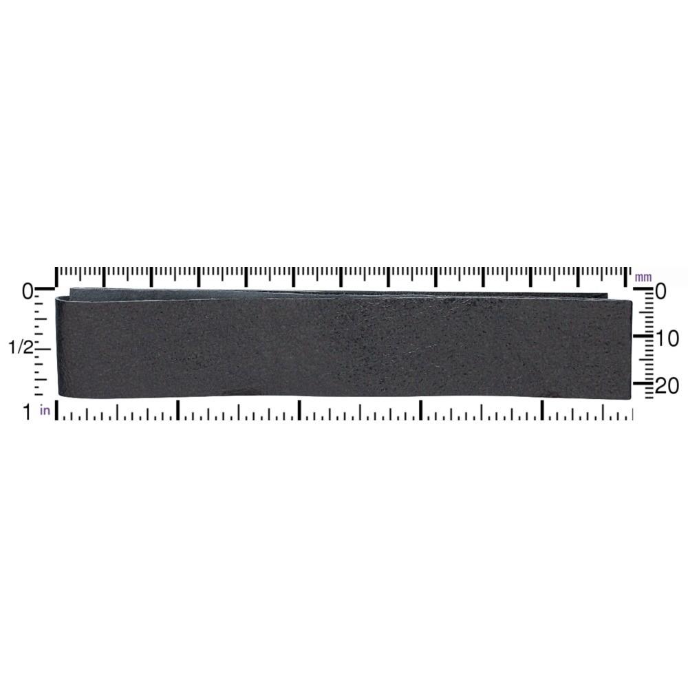 Leather Cord - Metallic Gunmetal Wide 2cm DISCONTINUED