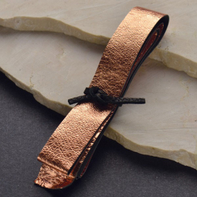 Leather Cord - Metallic Rose Gold Wide 2cm