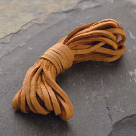 Leather Cord - Caramel 3mm Deerskin Laces