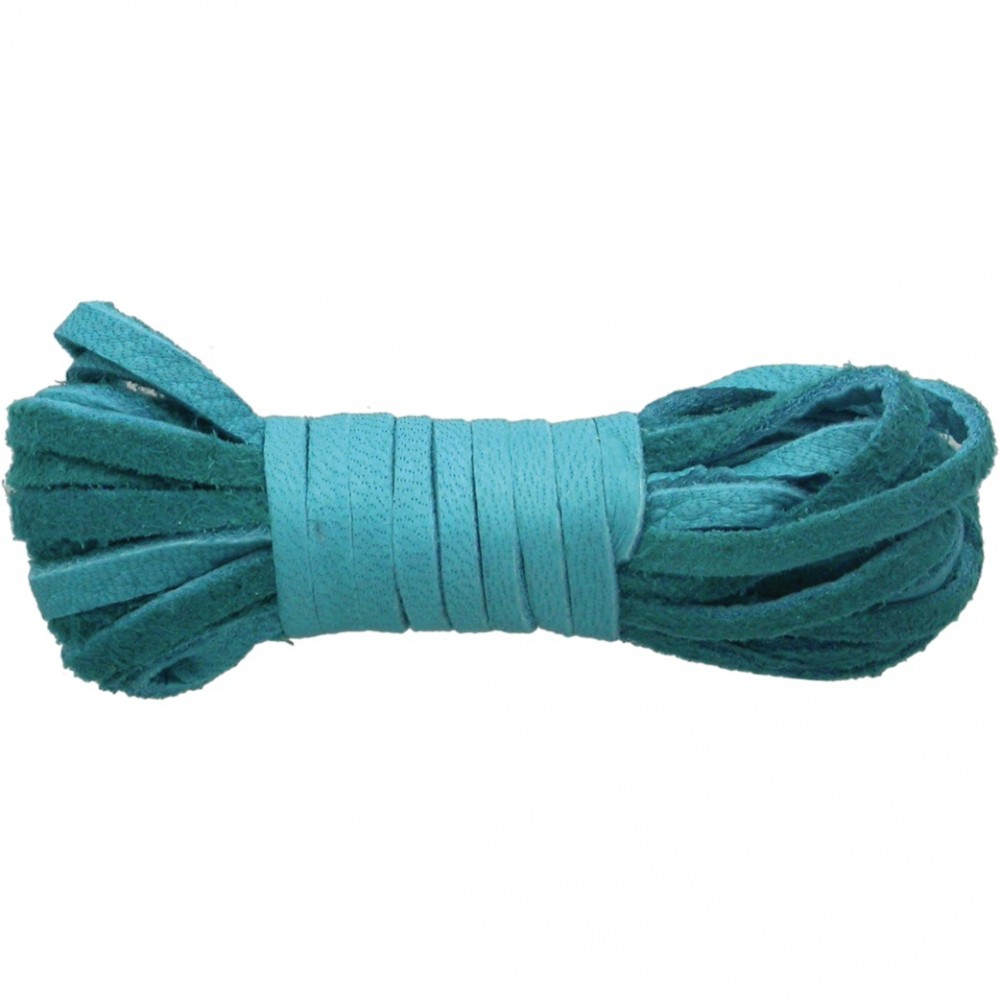 Leather Cord - Turquoise 3mm Deerskin Laces DISCONTINUED