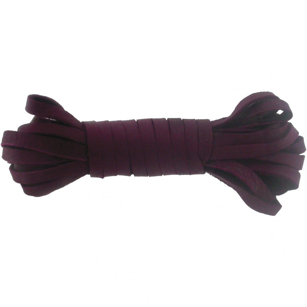 Leather Cord - Wine 3mm Deerskin Laces