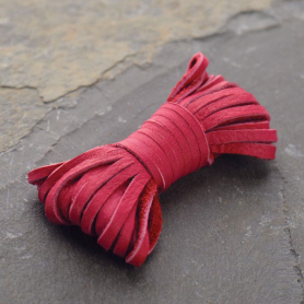 Leather Cord - Hot Pink 3mm Deerskin Laces DISCONTINUED