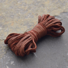 Leather Cord - Chestnut 2mm Deerskin Laces