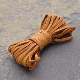 Leather Cord - Caramel 2mm Deerskin Laces