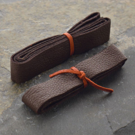 Leather Cord - Chocolate Gold Wide 2cm Deerhide