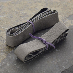 Leather Cord - Gray Wide 2cm Deerhide DISCONTINUED