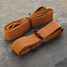 Leather Cord - Caramel Wide 2cm Deerhide DISCONTINUED