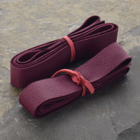 Leather Cord - Wine Wide 2cm Deerhide DISCONTINUED