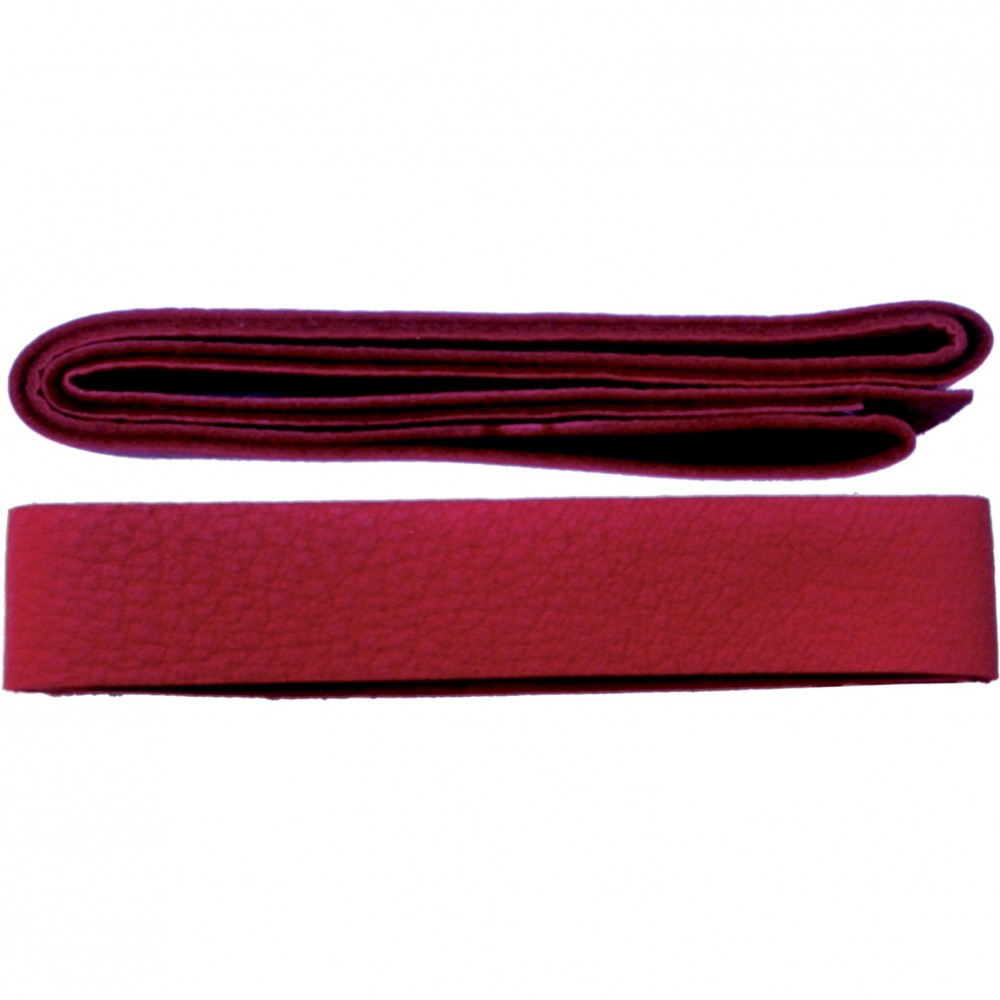 Leather Cord - Red Wide 2cm Deerhide DISCONTINUED