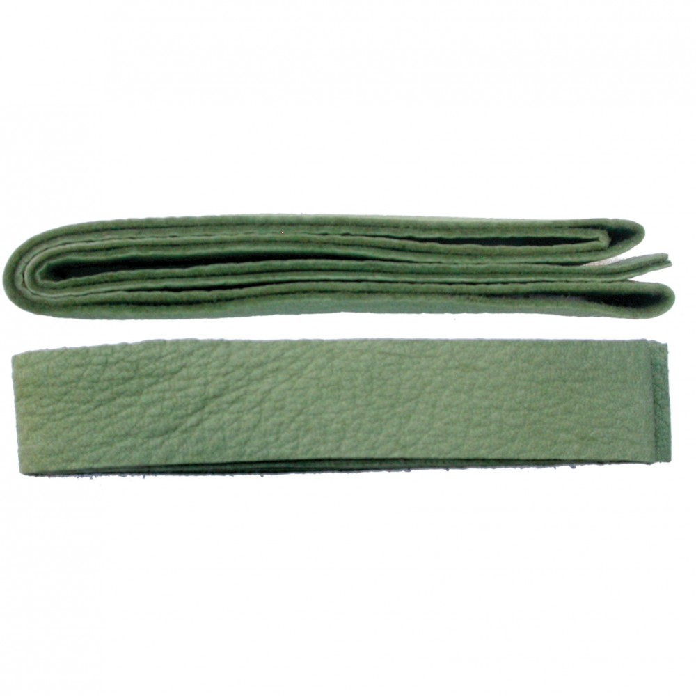 Leather Cord - Sage Wide 2cm Deerhide DISCONTINUED