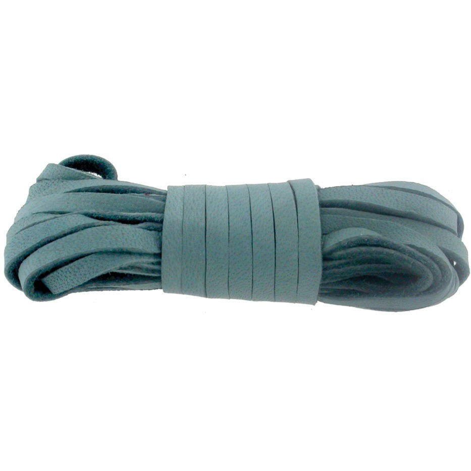 Leather Cord - Stone Blue 3mm Deerskin Laces