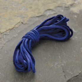Leather Cord - Cobalt 2mm Deerskin Laces DISCONTINUED