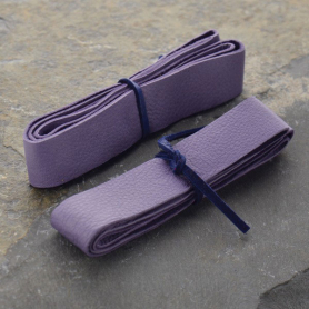 Leather Cord - Lilac Wide 2cm Deerhide DISCONTINUED