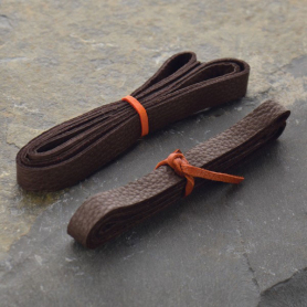 Leather Cord - Chocolate 1cm Deerlace