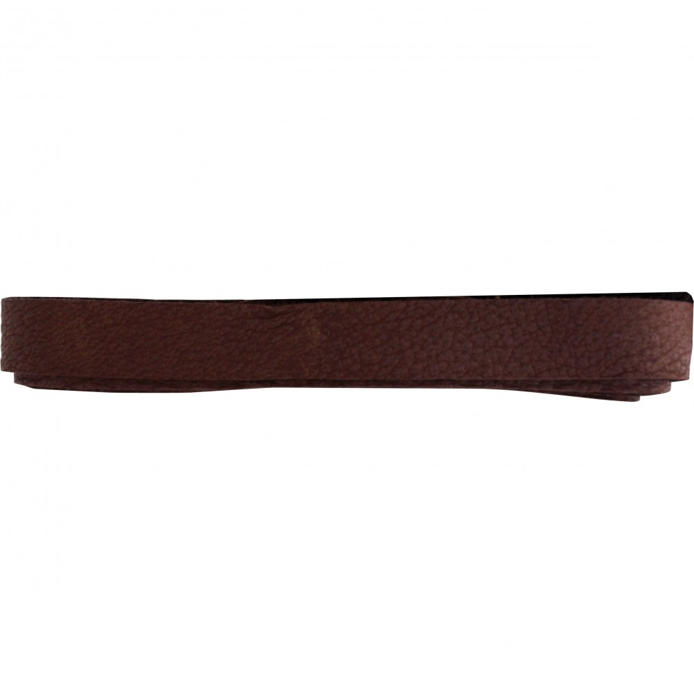 Leather Cord - Chestnut 1cm Deerlace