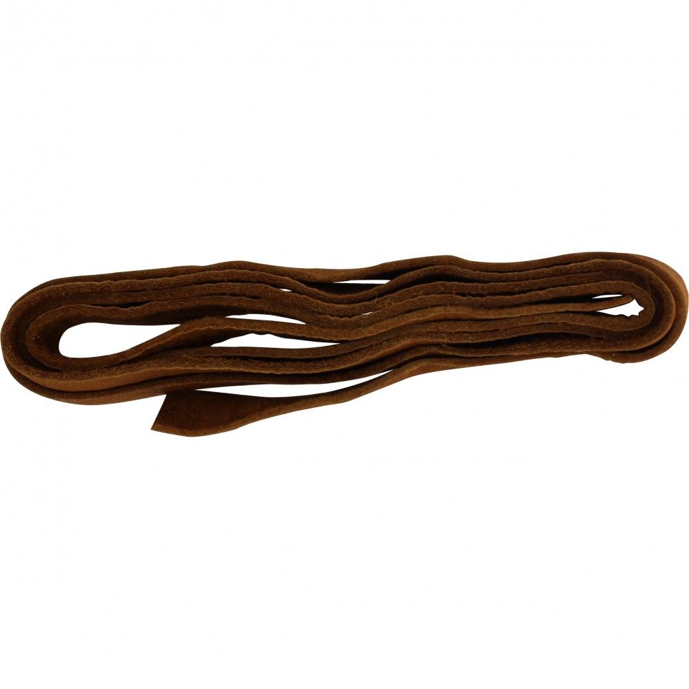 Leather Cord - Caramel 1cm Deerlace DISCONTINUED