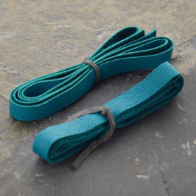 Leather Cord - Turquoise 1cm Deerlace DISCONTINUED