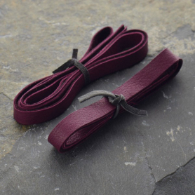 Leather Cord - Wine 1cm Deerlace
