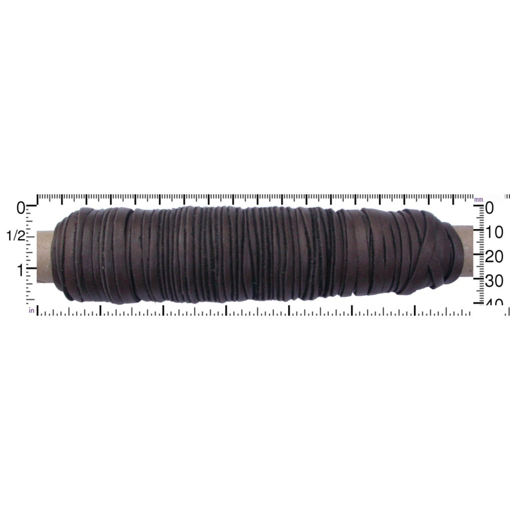 Leather Cord - Chocolate 3mm Deerskin - 50ft Spool